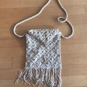 American Eagle macrame bag